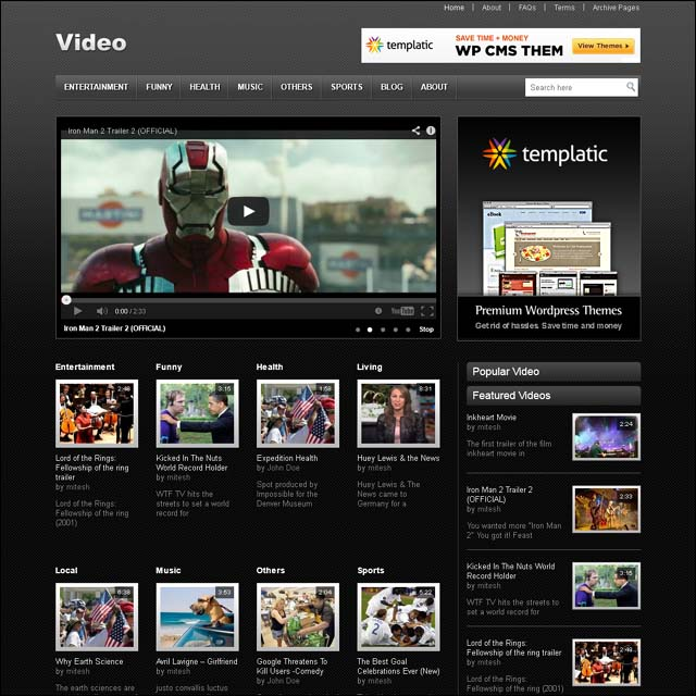 templatic.video.wordpress.theme