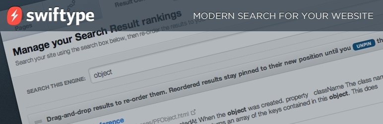 WordPress search plugins swift search