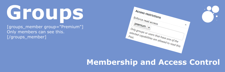 WordPress membership plugin - Groups
