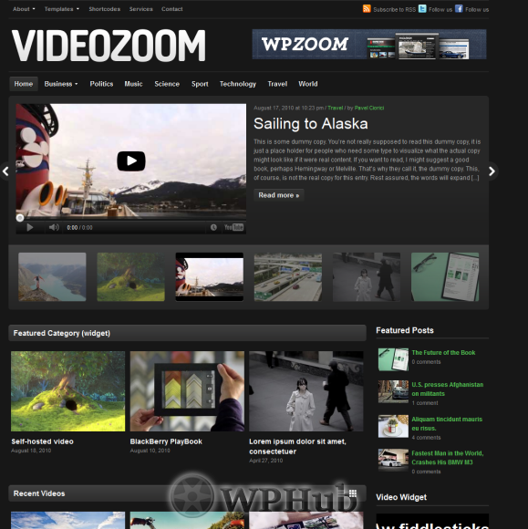 Top 10 Best Video Themes For Wordpress July 2014