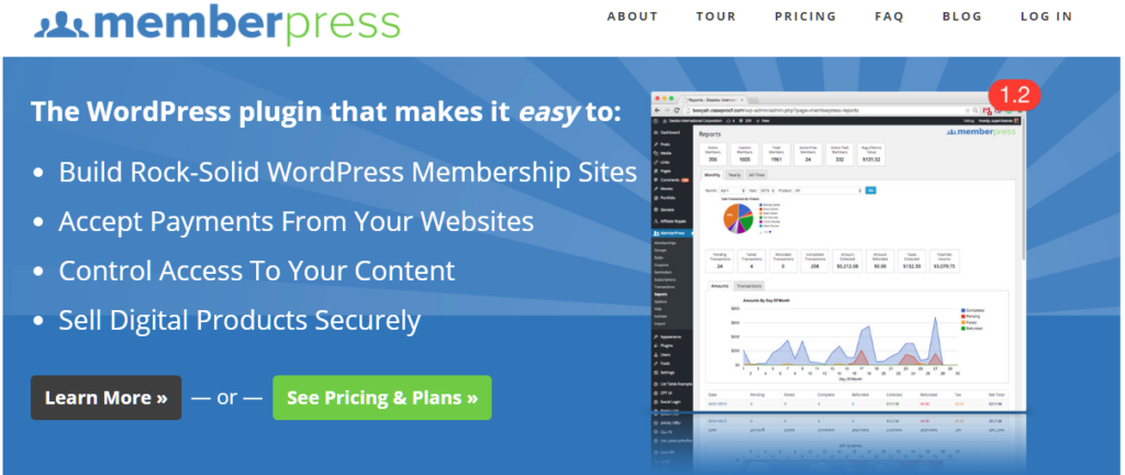 WordPress membership plugin - Member Press