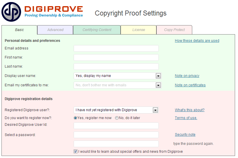 copyright notice plugin