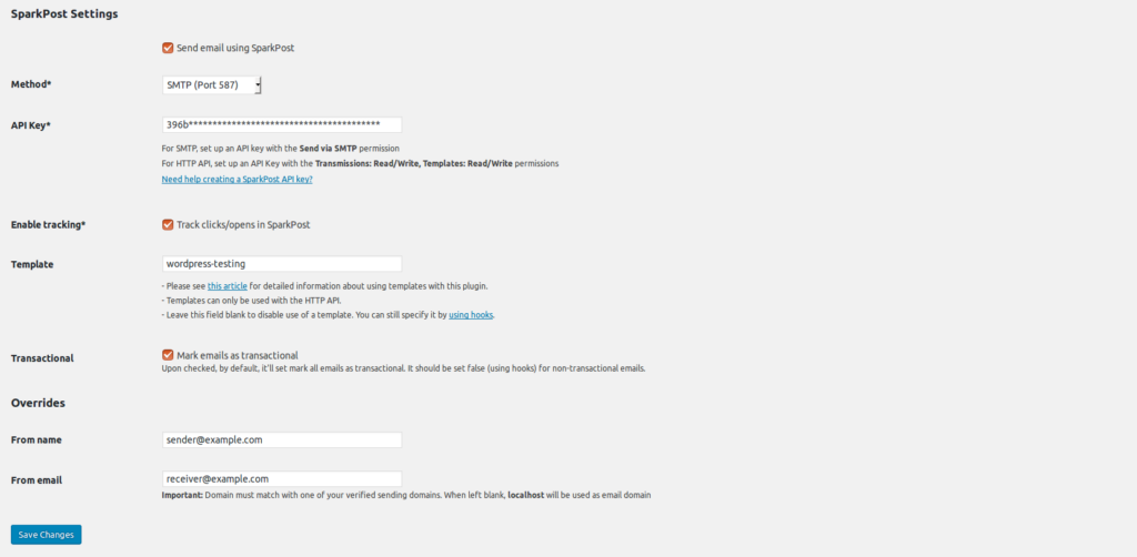 Free SMTP server- Sparkpost