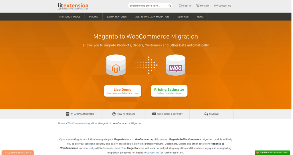 magento to WordPress