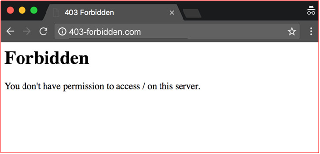 Error 403 Forbidden