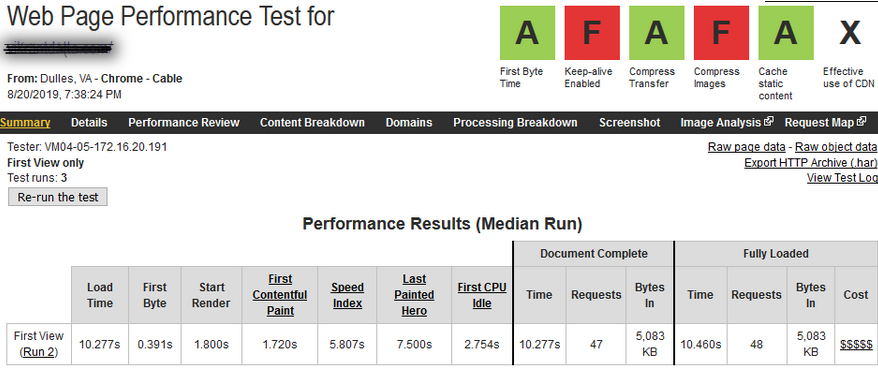 PHP version 7.1 performance test