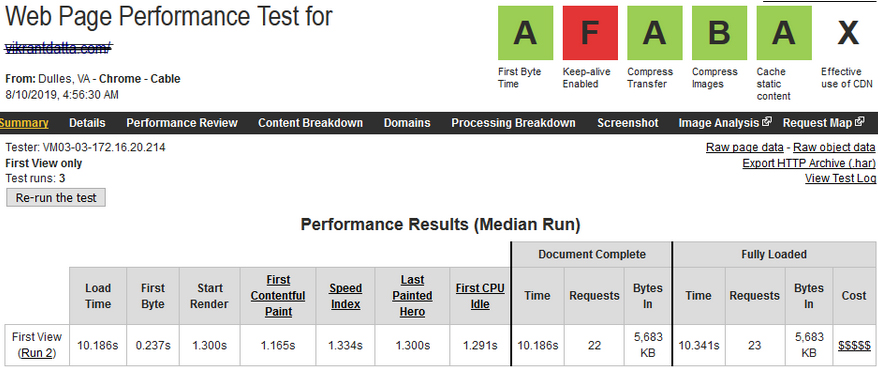 PHP Benchmark php 7.3