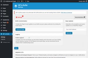 buffer plugin for wordpress