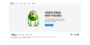 famous disney 404 page not found