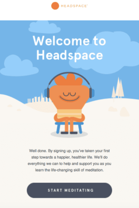 headspace 1 480x718 1 Best Welcome Email Templates For Your Business – 2020