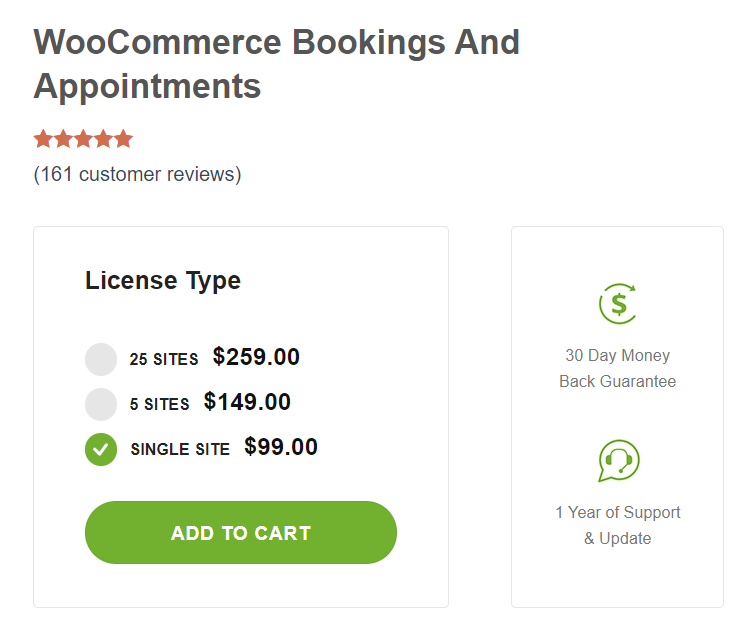 woocommerce booking and appointment WordPress booking plugins