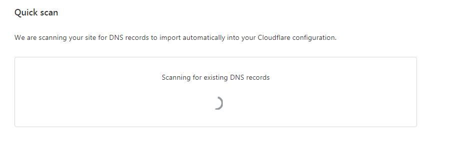 cloudflare scannig