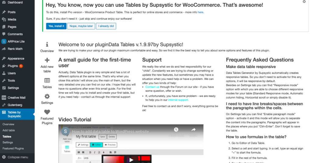 Screenshot 2021 01 11 at 5.56.29 PM 1024x537 1 12 Best WordPress Table Plugins Compared To Choose [2021]