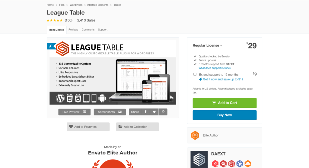 Screenshot 2021 01 11 at 6.02.25 PM 1024x556 1 12 Best WordPress Table Plugins Compared To Choose [2021]