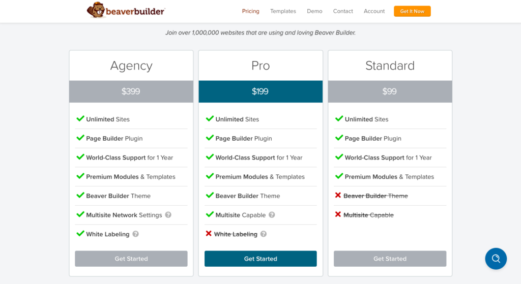 beaver builder pricing wp plugin