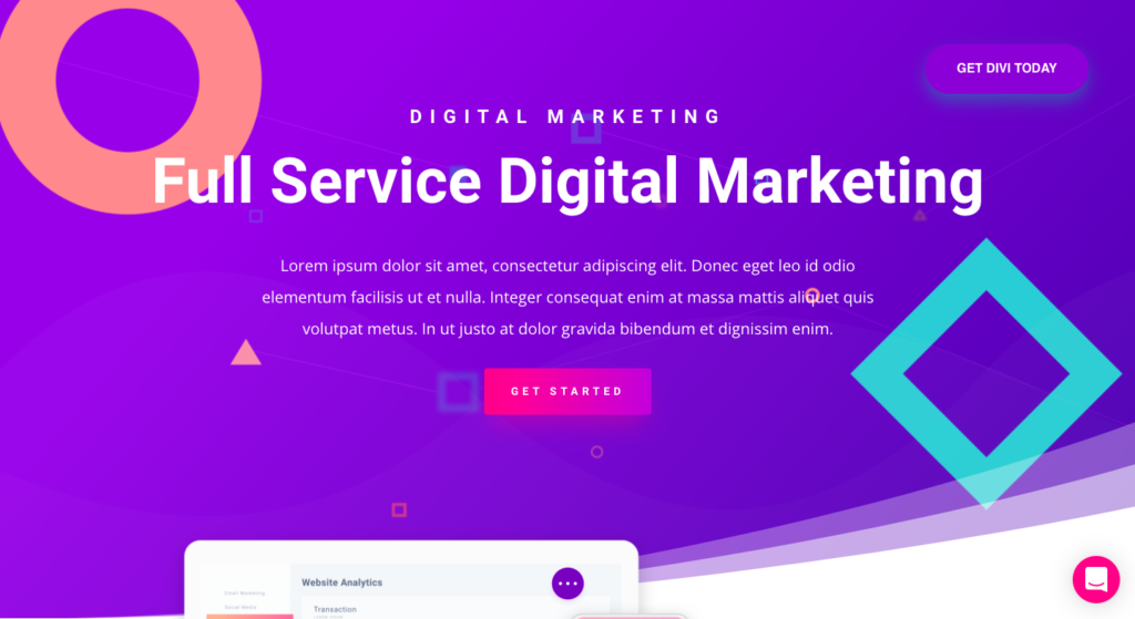 divi home 13 High Converting WordPress Landing Page Plugins Compared 2021