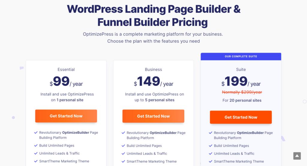 funnel builder pricing