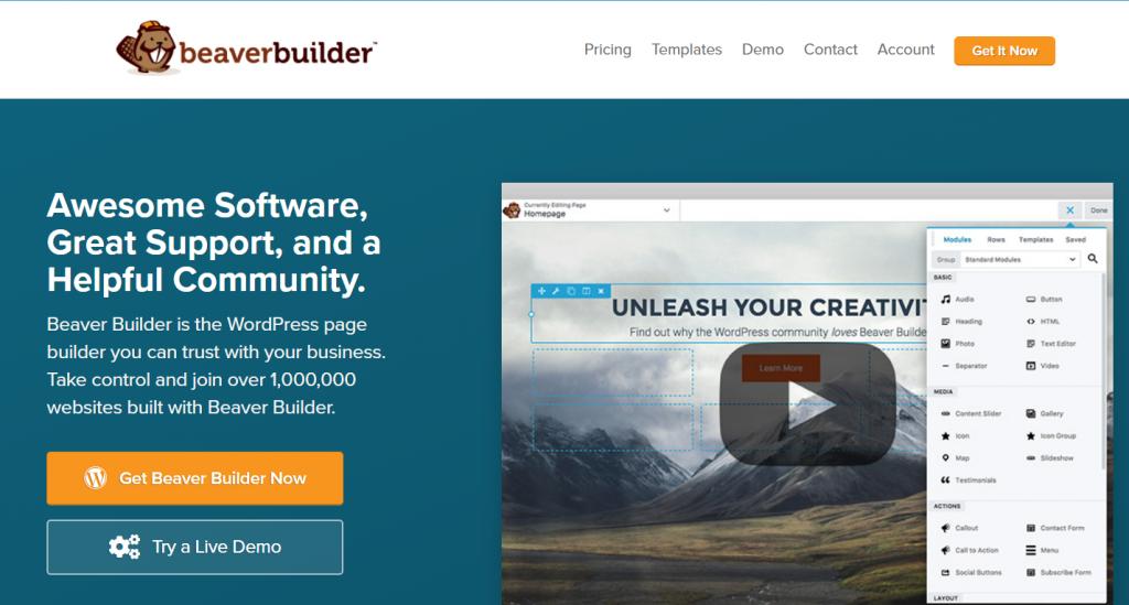 beaver WordPress landing page plugins