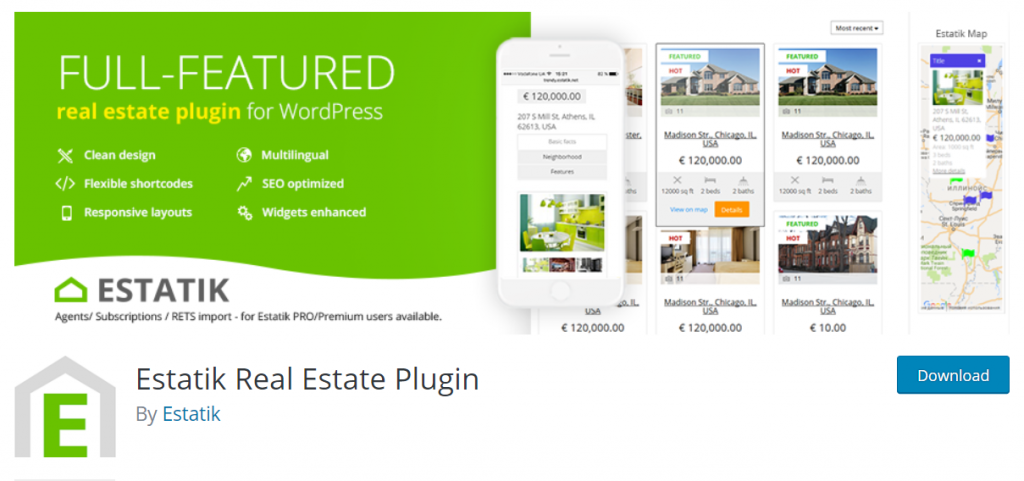 Estatik wordpress real estate plugin
