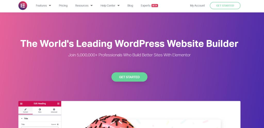 elementor WordPress landing page plugin