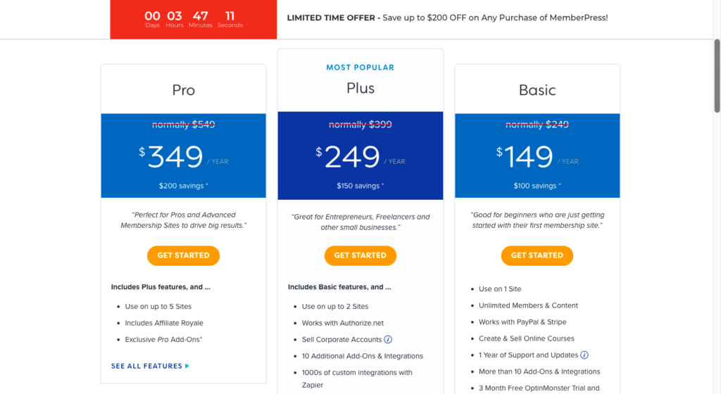 memberpress pricing 10 Best WordPress LMS Plugins For Online Courses