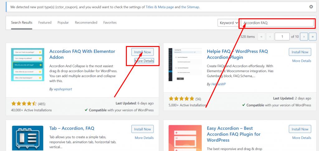 Screenshot 2 4 5 Best WordPress FAQ Plugins and How to Add them to Your WordPress Website