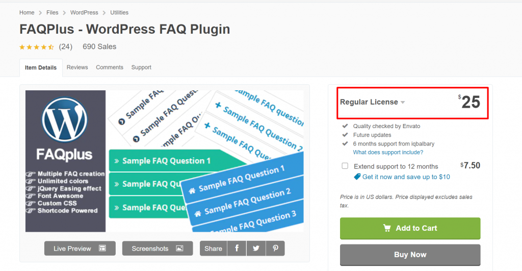 pricing 5 Best WordPress FAQ Plugins and How to Add them to Your WordPress Website