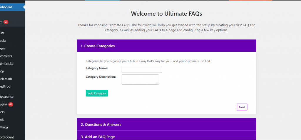 ultimate2 5 Best WordPress FAQ Plugins and How to Add them to Your WordPress Website