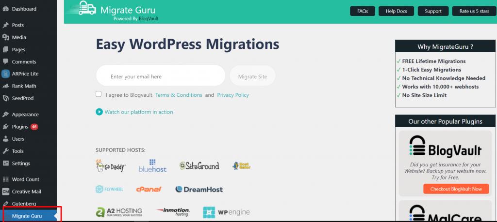 Screenshot 10 Best 10 WordPress Migration Plugins: Detailed analysis and Reviews