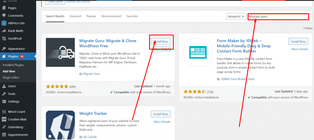 Screenshot 9 Best 10 WordPress Migration Plugins: Detailed analysis and Reviews
