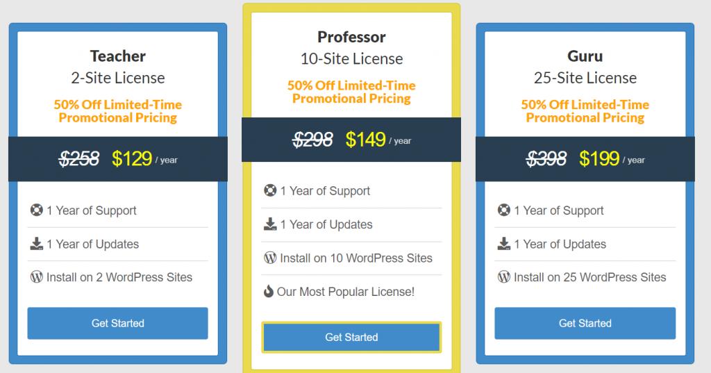 wp courseware plugin pricing