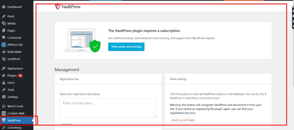 vaultpress 2 Best 10 WordPress Migration Plugins: Detailed analysis and Reviews