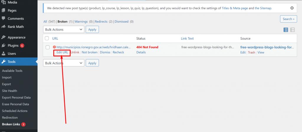 Screenshot 25 Having Broken Links In WordPress? 5 Methods To Find And Fix