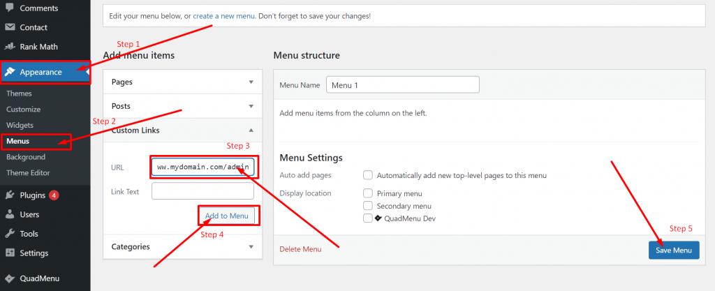 Saving WordPress login Url