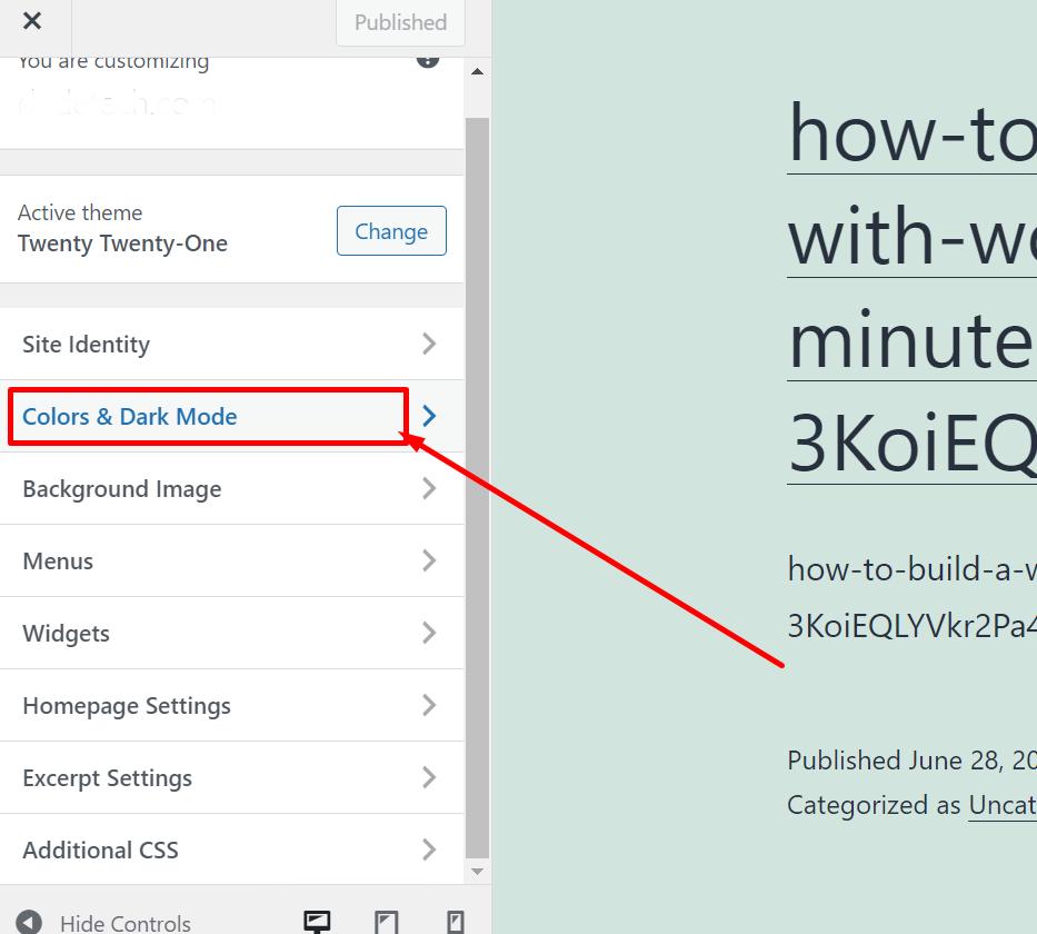 Screenshot 15 1 How To Customize WordPress Theme 2021