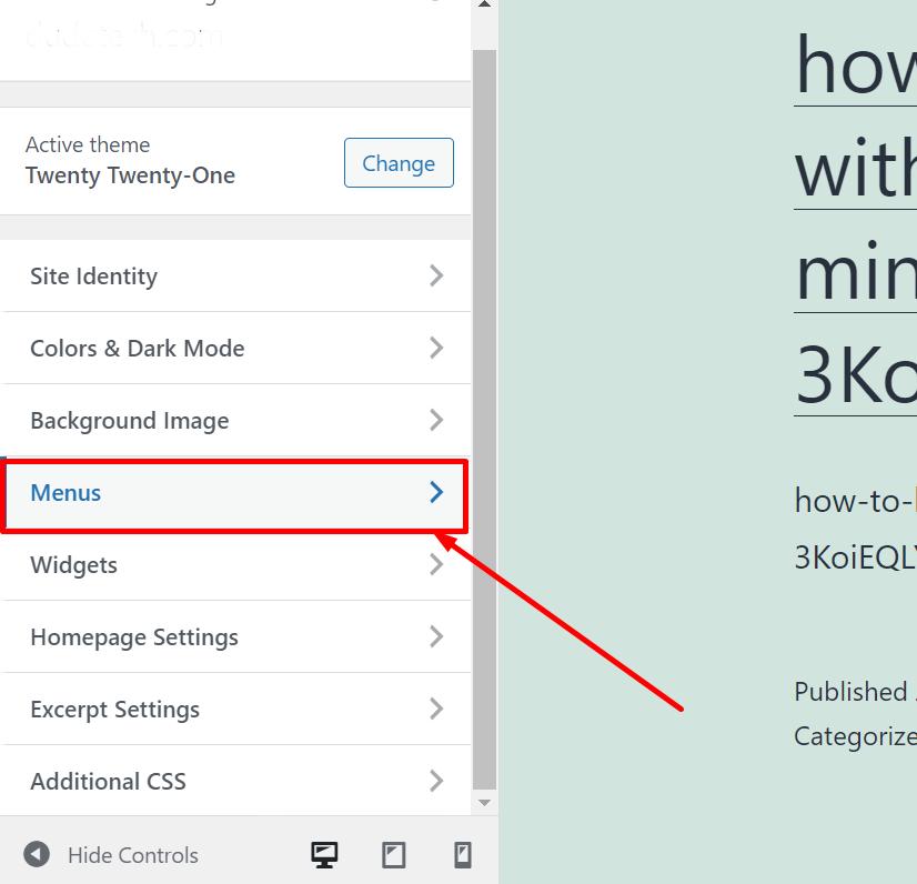 Screenshot 17 1 How To Customize WordPress Theme 2021