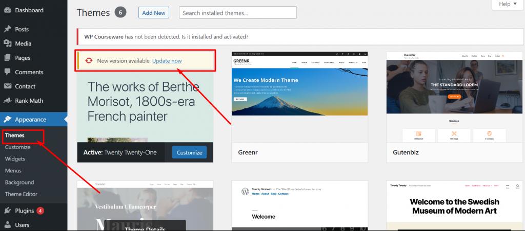 Screenshot 2 1 Update WordPress Theme Without Losing Customization 2021 [ 3 Methods ]