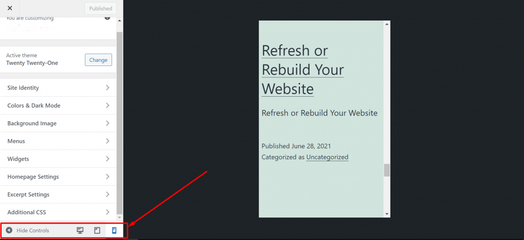 Screenshot 2 2 How To Customize WordPress Theme 2021