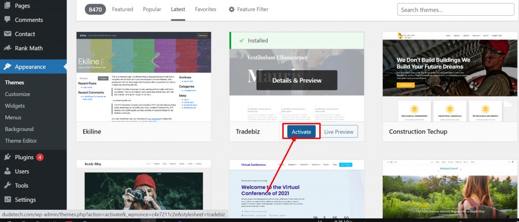 Screenshot 29 How To Install WordPress Theme? (3 Easy Methods)