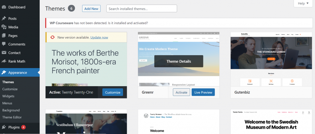 Screenshot 34 How To Install WordPress Theme? (3 Easy Methods)