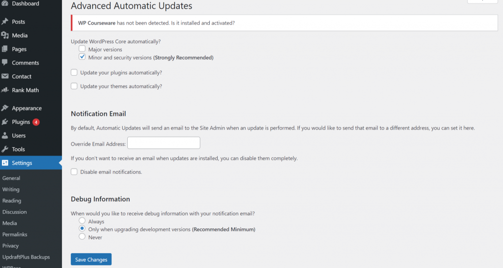 image 13 WordPress Automatic Updates: How To Enable & Disable (2021)