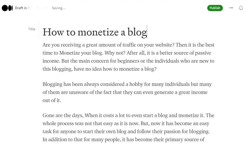 Screenshot 19 1 Medium vs WordPress: Which Is Best For Starting Blog?