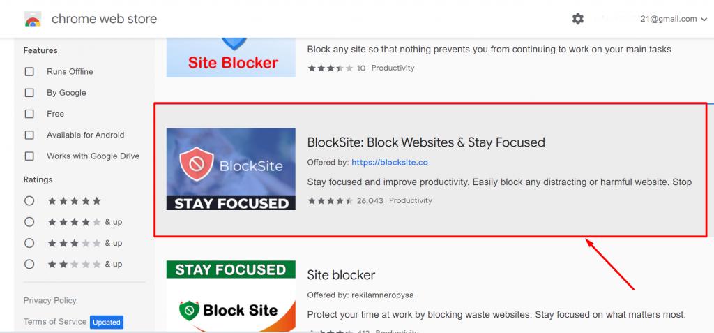 How to block website on chrome on desktop