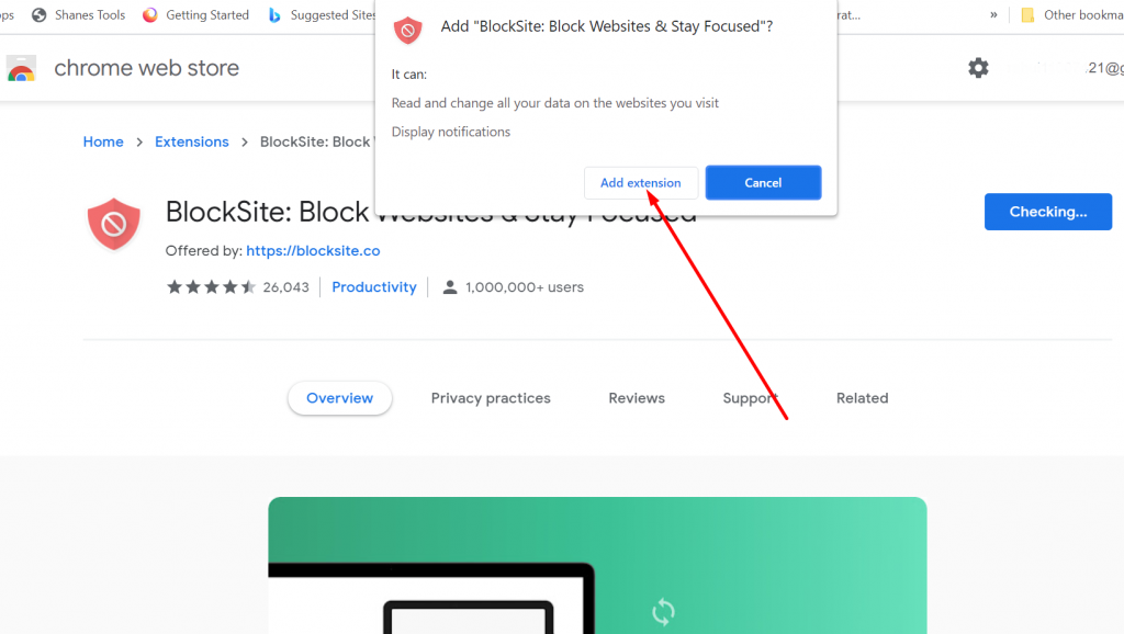 Block website on chrome