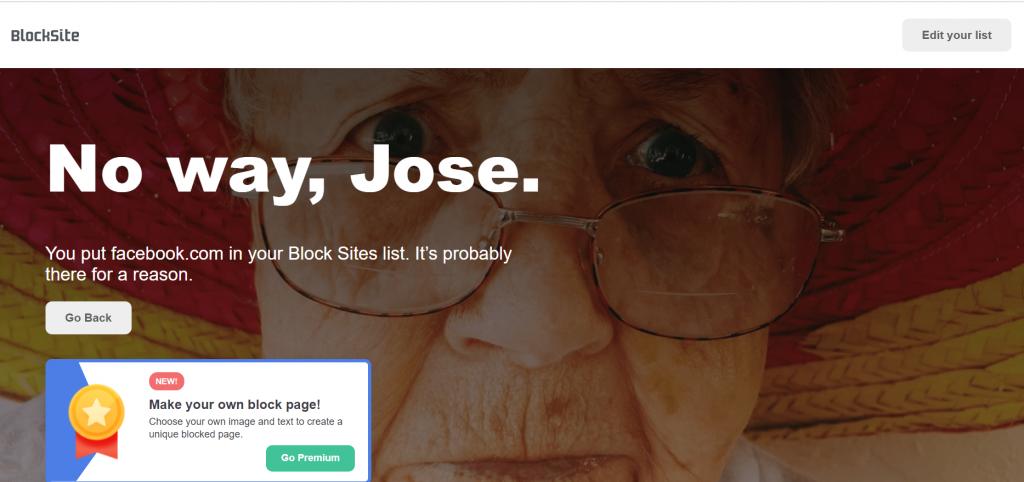 Block website in chrome