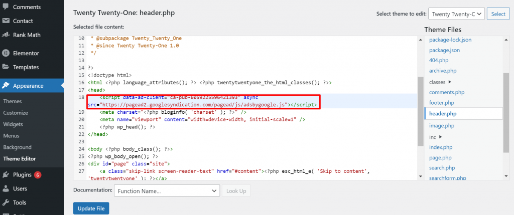 Screenshot 8 How To Add Google AdSense On WordPress Site 2021 [Steps]