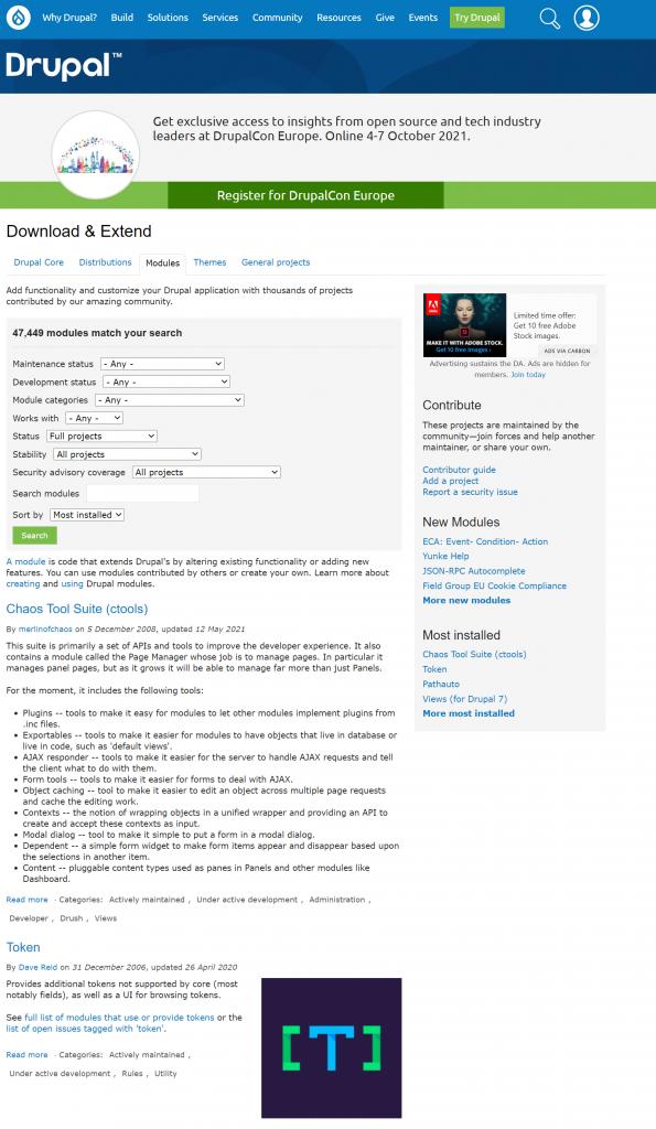 image 5 WordPress vs Drupal: The Best CMS Showdown 2021