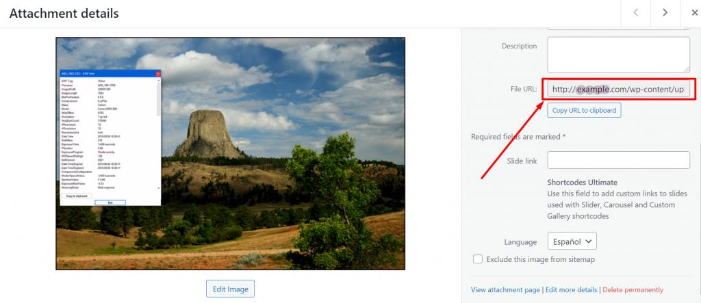 WordPress Image Permalinks