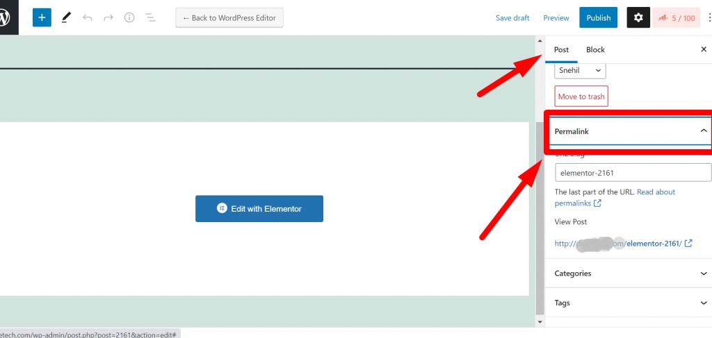 WordPress permalink editing