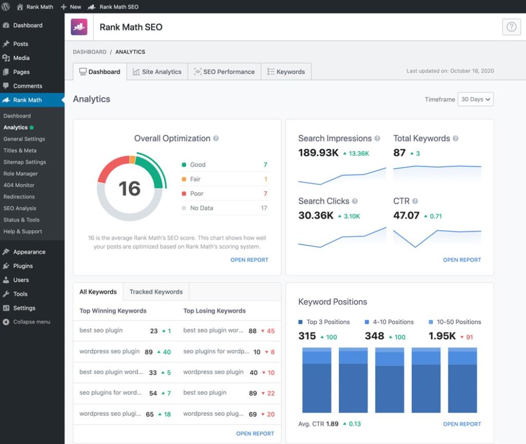 Rank Math Inbuilt SEO Audit tool